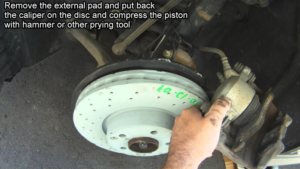 Changing discs brakes rotors and pads on mercedes w204 c for Mercedes benz c300 brake rotors