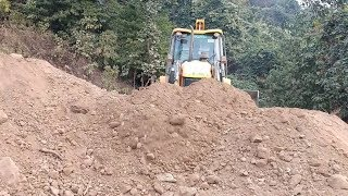 Finally-New JCB ecoXcellence Backhoe-Clearing Dusty Hilly Narrow Road Part 3