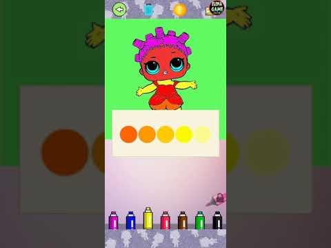 Раскраски кукол - куклы Лол веселая игра - YouTube