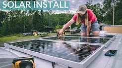HOW TO INSTALL SOLAR PANELS & RENOGY UNBOXING | Van Build Episode 8