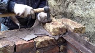 Как построить погреб своими руками. Проставление уголков(Видео для миникурса