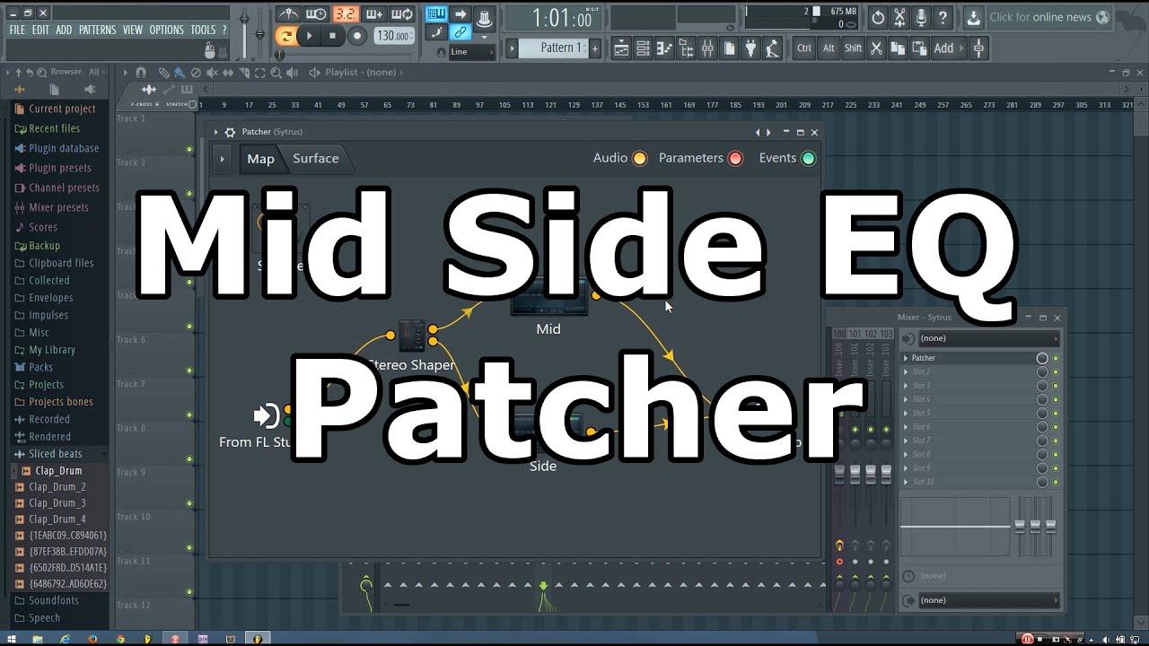 Patcher Mid Side Eq Tutorial Fl Studio Youtube