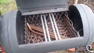 Мангал коптильня барбекю из газовых баллонов своими руками ЧАСТЬ 9