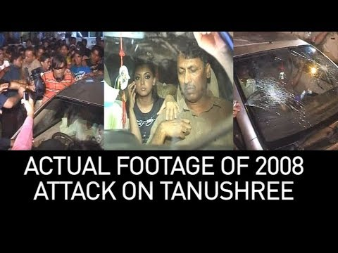 Actual 2008 footage of how Tanushree Dutta was attacked when she walked out of Nana Patekar song |