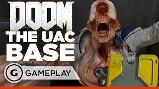 12 Minutes of Single Player UAC Base EXCLUSIVE Gameplay - DOOM