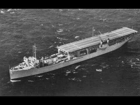 USS Langley, America's first Aircraft Carrier, bombed and sunk.