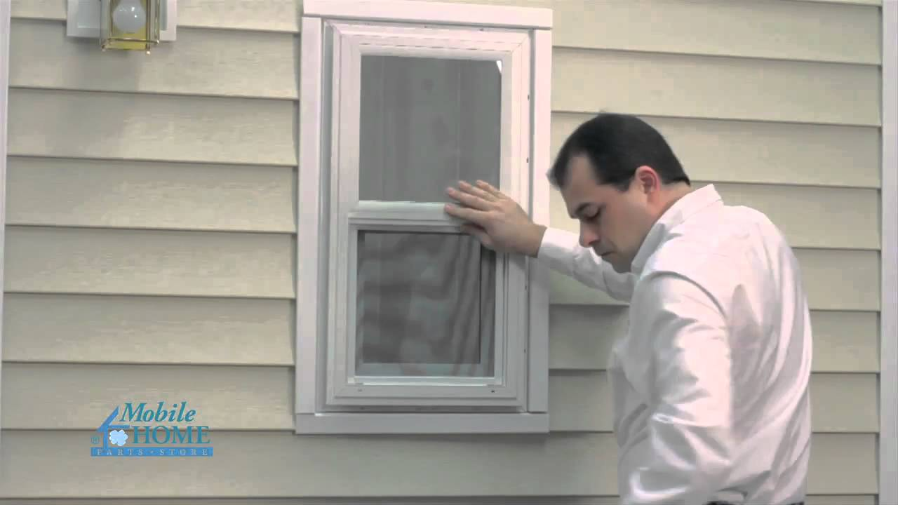 Diy vinyl exterior window installation mobile home parts for Mobile home replacement windows