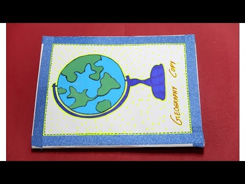 Geography File Social Science Notebook Cover Diy Notebook Cover Project File Decoration Youtube