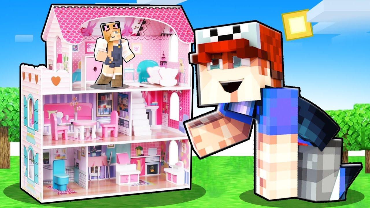 ZBUDOWAŁEM DOMEK DLA LALEK DLA BELLI! (Minecraft Roleplay)   Vito i Bella