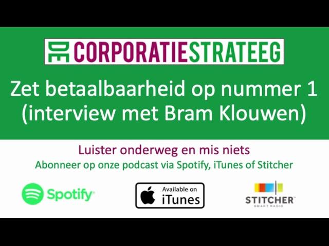 Zet betaalbaarheid op nummer 1 (interview met Bram Klouwen)