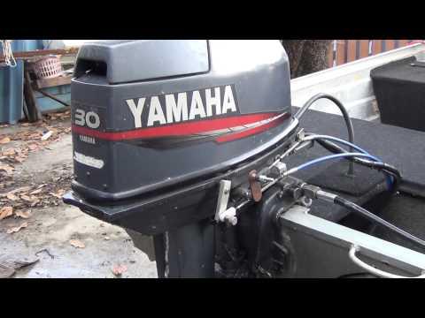 Yamaha 30 hp 1998 old start after 2 year storage funnydog tv for Yamaha enduro 40 hp outboard