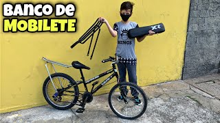 DEI UM BANCO DE MOBILETE PARA BIKE DO MENOR