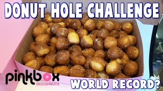 Donut Hole World Record Challenge at Pinkbox Doughnuts *RecordSetter* | FreakEating vs World