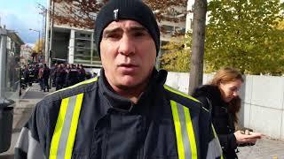 manif pompiers Lyon 0611 2017 001 patrice cartagéna délégué Sud Solidaires vidéo