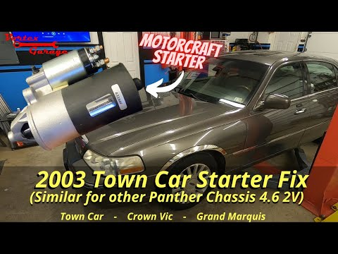 2003 Lincoln Town Car Starter Replacement Steps – 2003+ panther chassis starter replace how-to