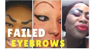 EYEBROWS EPIC FAIL COMPILATION