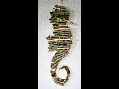 Морской конек из природного материала своими руками