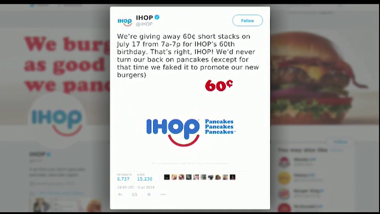 Video: IHOB switches back to IHOP 6am July, 10, 2018 - YouTube