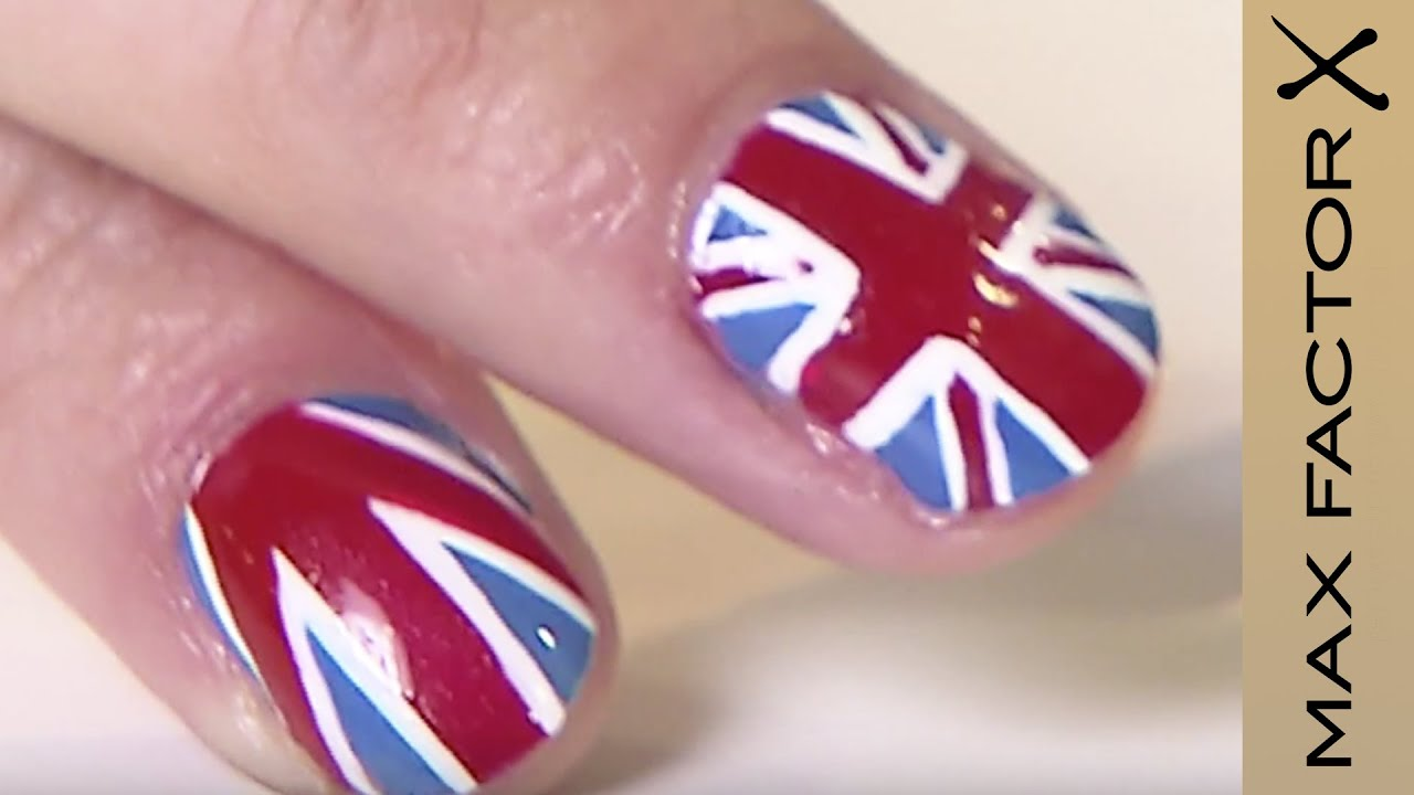 Cozy Union Jack Nail Art 2 Different Nail Designs Max Factor Uk