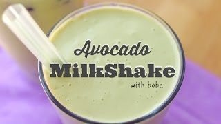 How To Make Avocado Milkshake With Boba