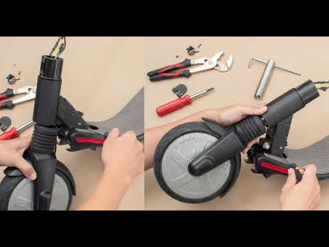 Segway Ninebot ES1 ES2 ES4 Fix Steering Loose Shake Bearing Gap Problem How to.