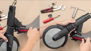 Segway Ninebot ES1 ES2 ES4 Fix Steering Loose Shake Bearing Gap Problem How to.