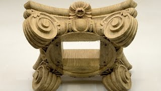 Classical Hand-made Wood Carving Of Column Capitals