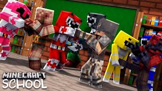 Minecraft School - POWER RANGERS COMING TO SAVE THE DAY!