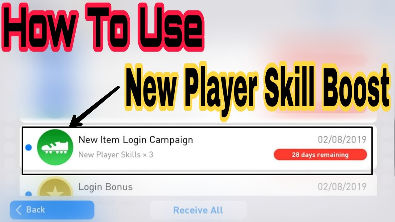 2 29 MB] How To Use New Player Skill Booster - PES 2019 Mobile