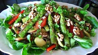 Cách làm SALAD MĂNG TÂY TRỘN DẦU GIẤM ngon, ASPARAGUS SALAD | Vietnamese German Kitchen Garden