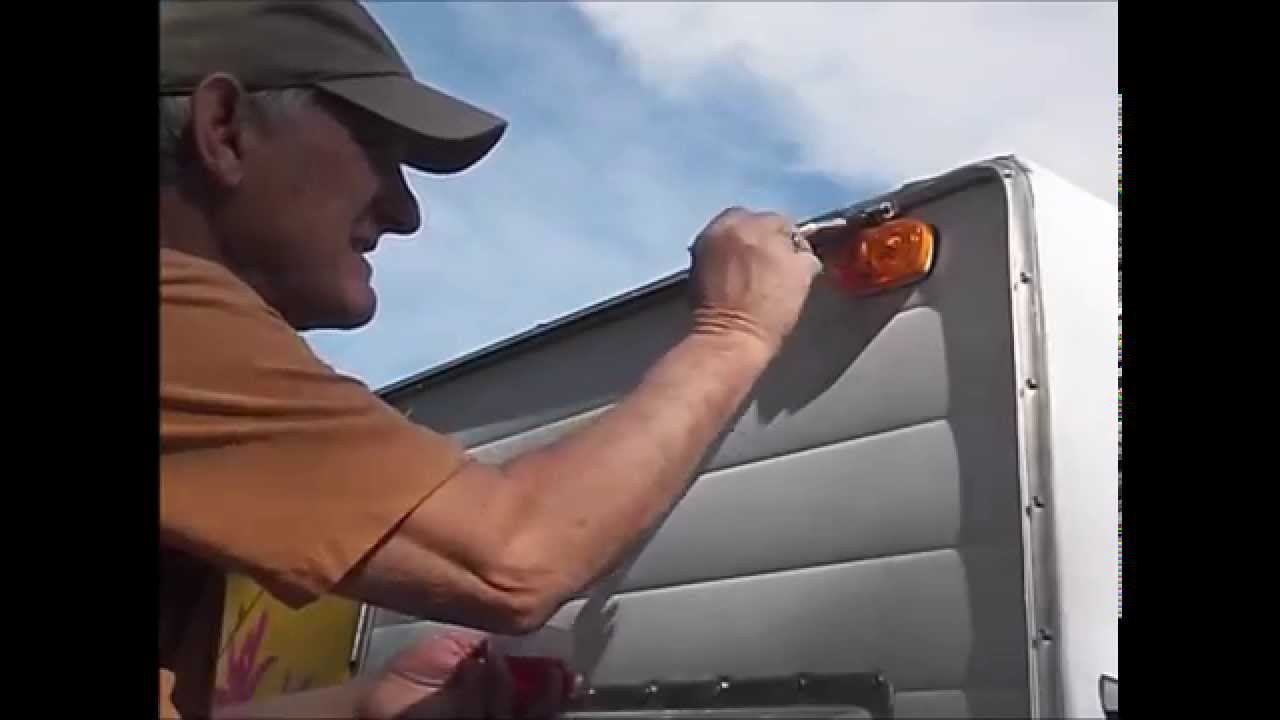 Cleaning The Awning Track On A Vintage Travel Trailer Youtube
