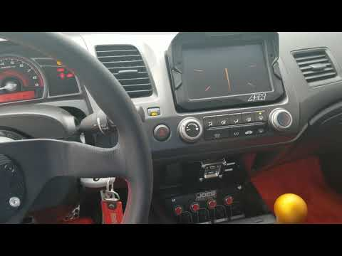 Aem Cd7 Dash Start Up In 2006 Civic Si Obd2 Port