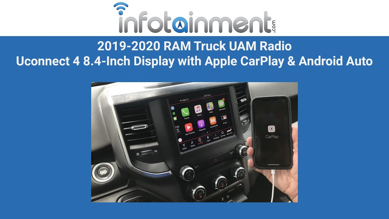 2019-2020 RAM Truck UAM Radio Uconnect 4 8 4-Inch Display with Apple  CarPlay & Android Auto Upgrade