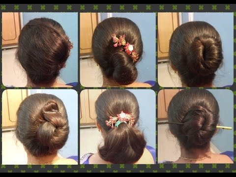 6 Different Bun Hairstyles । Easy, Simple & Quick Hairstyles