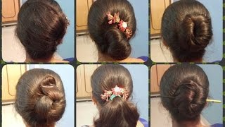 Anjali's Bun Hairstyles Part 1 | 6 Different Bun Hairstyles । Easy, Simple & Quick Hairstyles