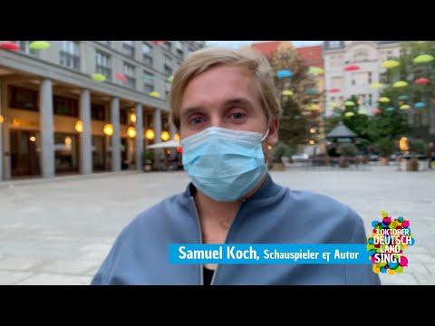 """Samuel Koch summt """"Die Gedanken sind frei"""""""