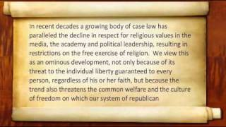 Manhattan Declaration (Audio-Text) - Part 6 of 6, Religious Liberty.flv