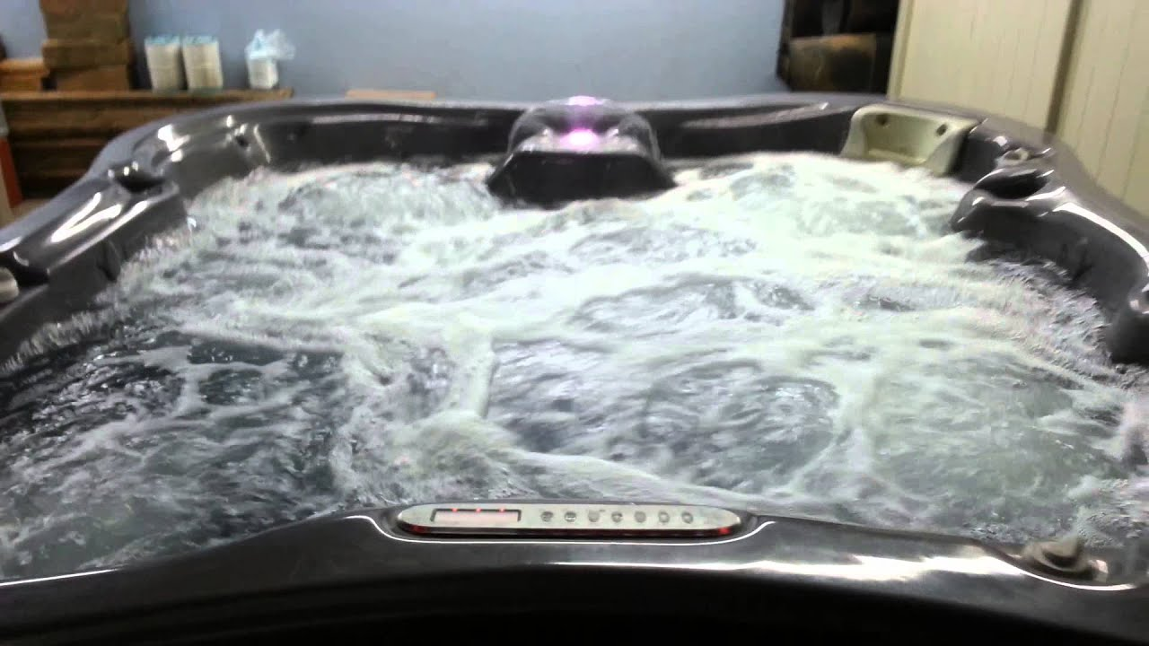 Dimension One Lotus Bay Preowned Hot Tub for Sale - YouTube