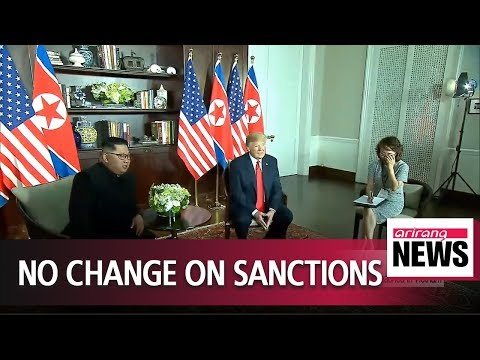 """Trump says """"meaningful"""" steps need to be taken to lift sanctions, amid hinting more summits"""