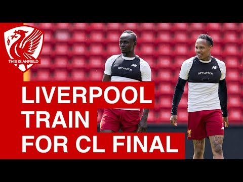 Liverpool squad train at Anfield ahead of Champions League final