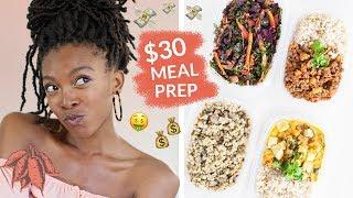 Cheap Vegan Meal Prep on $30/week   Breakfast, Lunch, Dinner, + Snack!