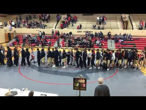 Garden city wrestling dual vs Great Bend