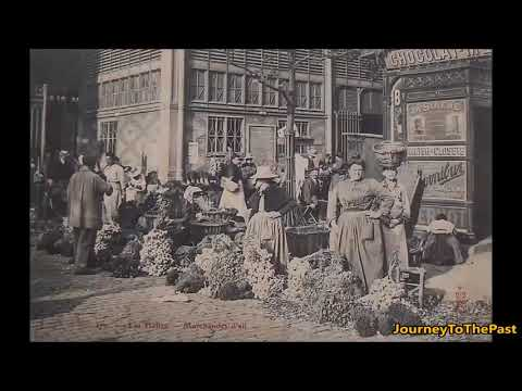 One morning on the Paris market in 1890 -  Photography Old Journey To The Past