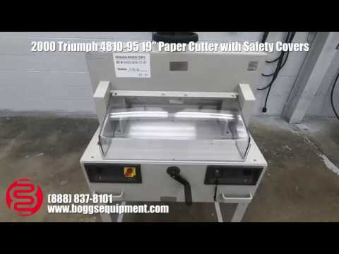 2000 triumph 4810 95 19 paper cutter w safety covers youtube