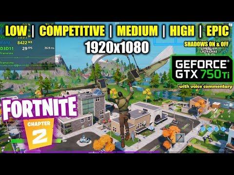 GTX 750 Ti | Fortnite Chapter 2 / Season 11 - 1080p All Settings
