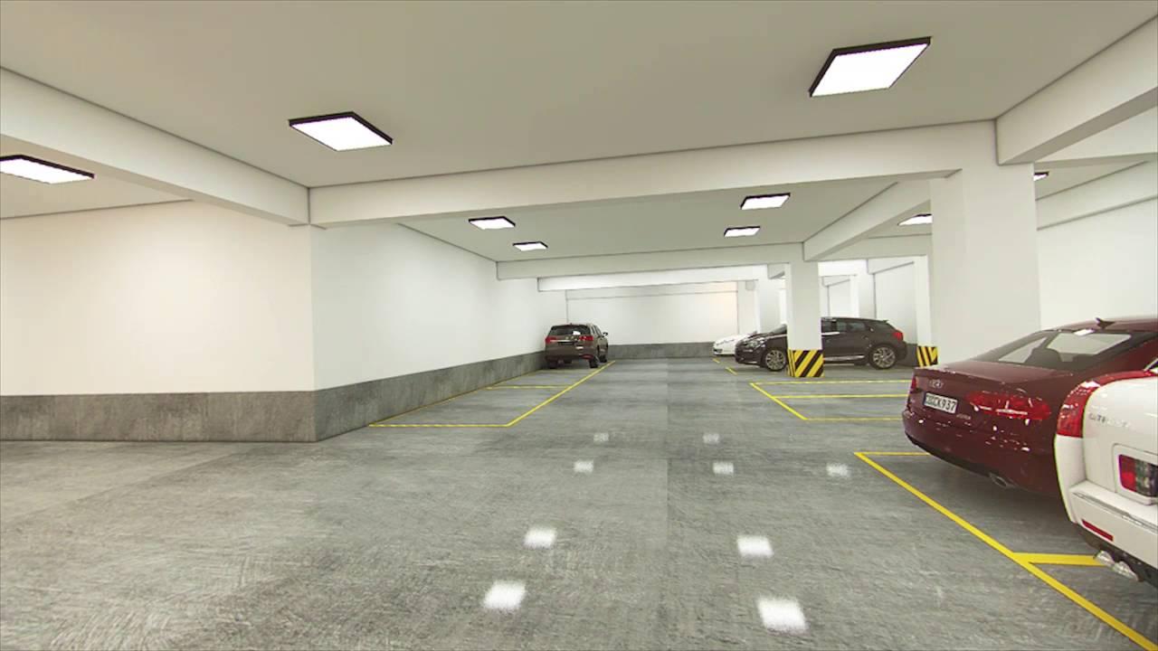basement car park design Plans of the various facilities of an underground parking lighting, pci, drainage, plumbing, ventilation force.