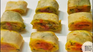 Delicious Healthy Sooji Breakfast/ Snack Recipe - Sooji and Oats Roll Recipe