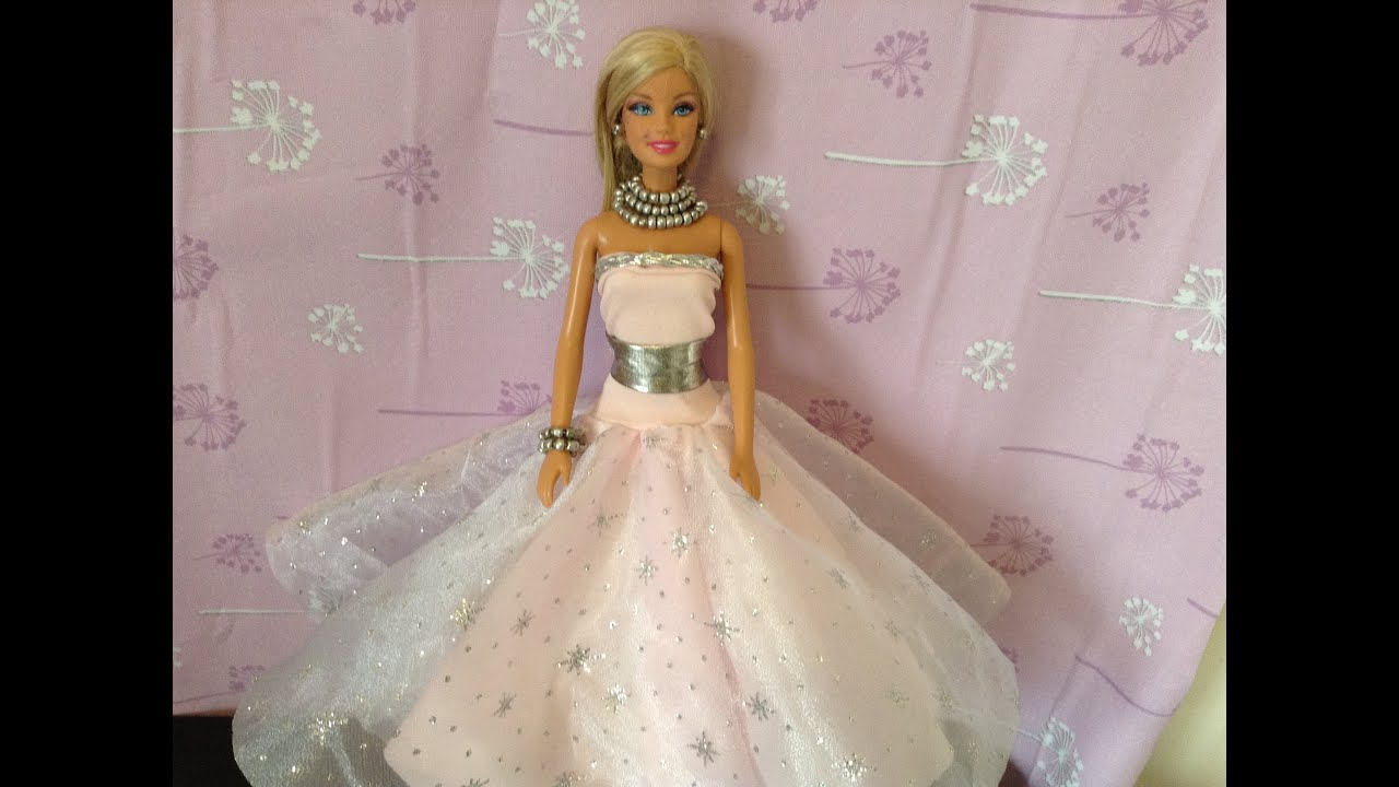 Como Hacer Vestido De Princesa Para Barbie Monster High