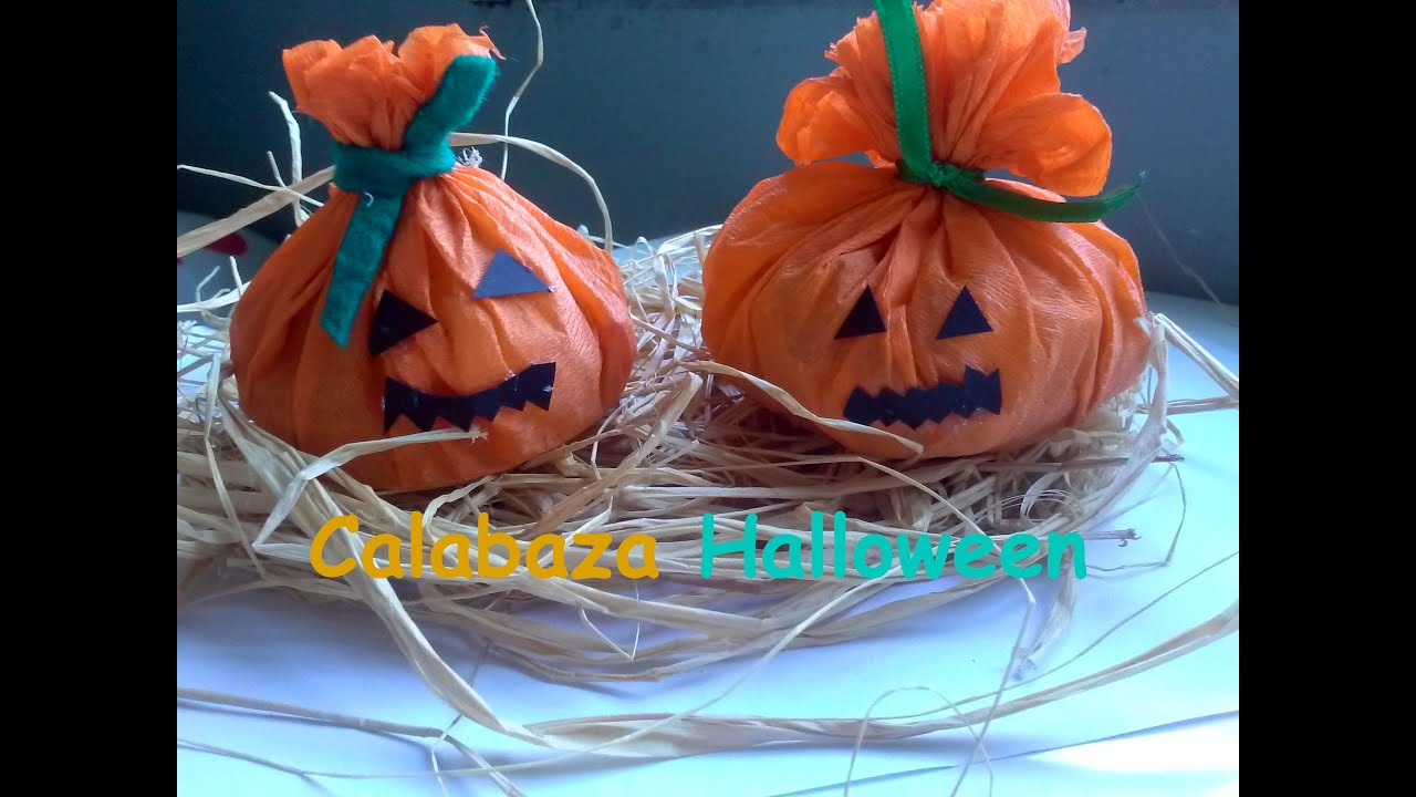 Dulcero calabaza halloween manualidades halloween youtube Manualidades de halloween para decorar