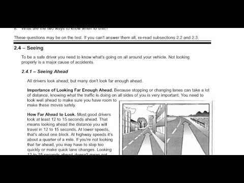 Section 2 Driving Safely 2.1.6 to 2.5 New York Commercial Drivers Manual